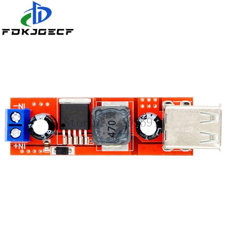 Dc 6v-40v a 5v 3a dupla carga usb DC-DC módulo conversor step-down para carregador de veículo lm2596 dupla usb 9v/12v/24v/36v