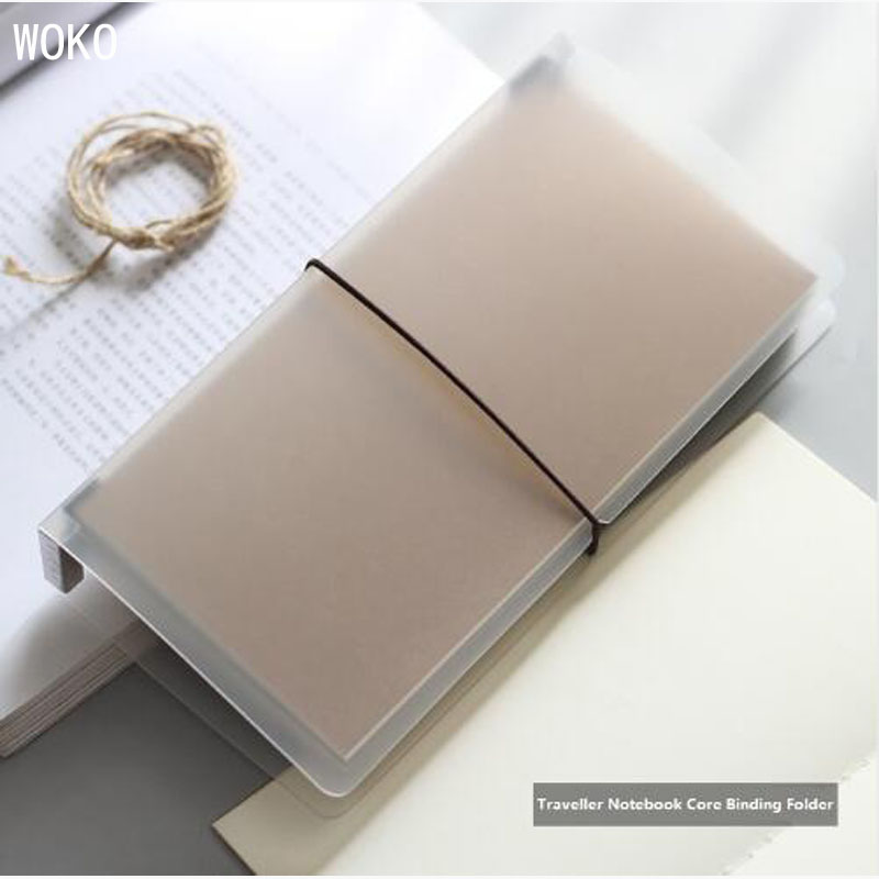 Matte Travelers Notebook Cover Transparent File Book PP Standard Size Inner Core Storage Book Office And School-supplies Escolar
