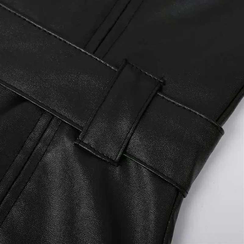 Faux Leder Schulter Sexy Kleid Frauen V-ausschnitt PU Gürtel Bodycon Damen Mini Party Kleider Liebsten Zipper Weibliche Vestidos