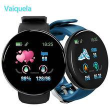 2020 цифровые часы с круглым монитором сердечного ритма смарт