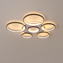 Minimalism Modern LED Chandelier Brown Creative Rings Chandeliers Ceiling For Livingroom Dining Bedroom chandelier lighting minimalism modern led ceiling chandeliers plafondlamp iron round led chandelier lighting for bedroom studyroom led light