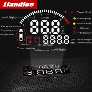 Image 2 - Liandlee Auto geschwindigkeit projektor HUD head up display Für Toyota Alphard 2018 2019 multi funktionale spezielle verwenden überdrehzahl warnung