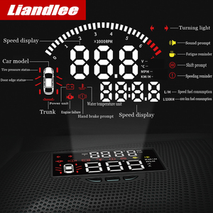 Image 2 - Liandlee carro projetor de velocidade hud head up display para toyota alphard 2018 2019 multi funcional uso especial overspeed aviso