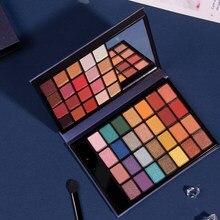 48 cores moda portátil paleta de sombra shimmer sombra de olho em pó brilho diamante pigmento cosméticos compõem paleta