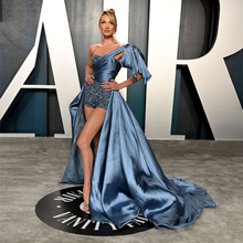 Oscars 2020 Candice Swanepoel Promi Roter Teppich Hosen High Low Schulter Formal Abendkleid