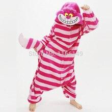 Кигуруми Чеширский кот комбинезоны пижамы животных Костюм пижамы унисекс мультфильм косплей персонажа пижамы, пижамы