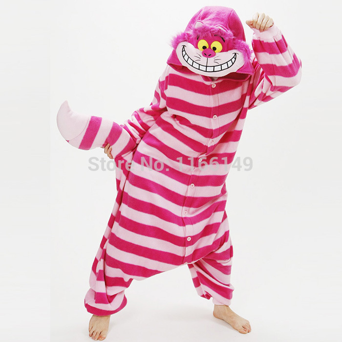 Kigurumi Cheshire Cat Onesies Pajamas Animal Costume Pyjamas Unisex Cartoon Cosplay Character Pijamas  ,sleepwear