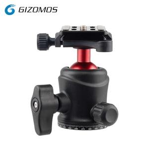 GIZOMOS GM-25BH Ball Head 360 Degree Rotatable Panoramic Ball Head Replacement for Canon/Nikon/Pentax/Sony SLR DSLR LIDC Cameras
