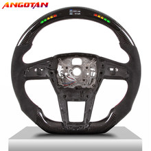 LED Steering Wheel Carbon Fibre Fit For Audi A6A7A8Q5Q6Q7R8 Sports Modification Steering Wheel