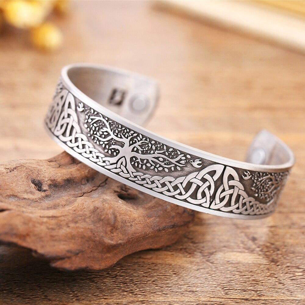 Bracelet de santé arbre de vie chance noeud Runes 4