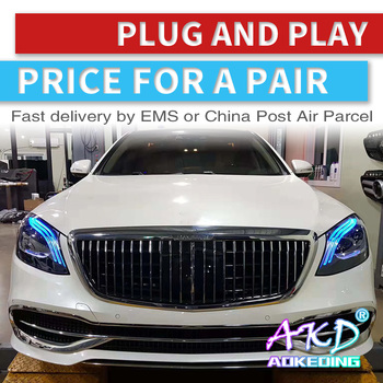 Head Lamp For Car BENZ S CLASS W222 2014-2019 W223 Headlights Fog Lights Day Running Light DRL H7 LED Bi Xenon Bulb
