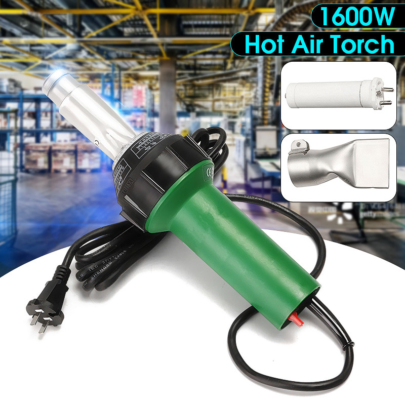 AC 220V 1600W 50 60Hz Hot Air Torch Plastic Welding Gun For Welder   Flat Nose Wholesale Price
