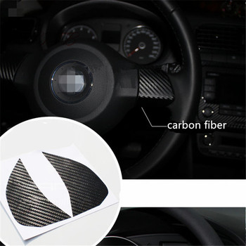 Steering Wheel Decoration carbon fiber 3D car sticker For Volkswagen VW GOLF 6 POLO JETTA MK5 MK6 Bora Touran Tiguan Car Styling image