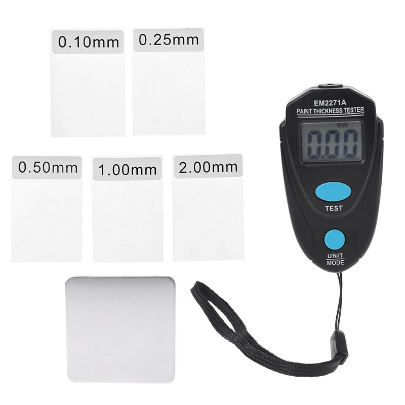 EM2271A EM2271 Mini LCD Digital Automobile Thickness Gauge Car Paint Tester Display Thickness Coating Meter Testing Instrument