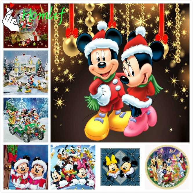 Diy diamond painting cross stitch Disne Christmas Mickey mouse square drill art home decorative diamond embroidery picture