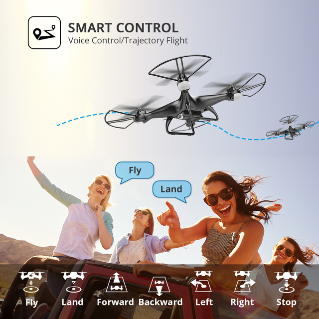 Holy Stone HS110D Pro 1080P Drone with Camera HD Profissional Wifi RC Dron Quadcopter Quadrocopter 120° Angle Modular Battery