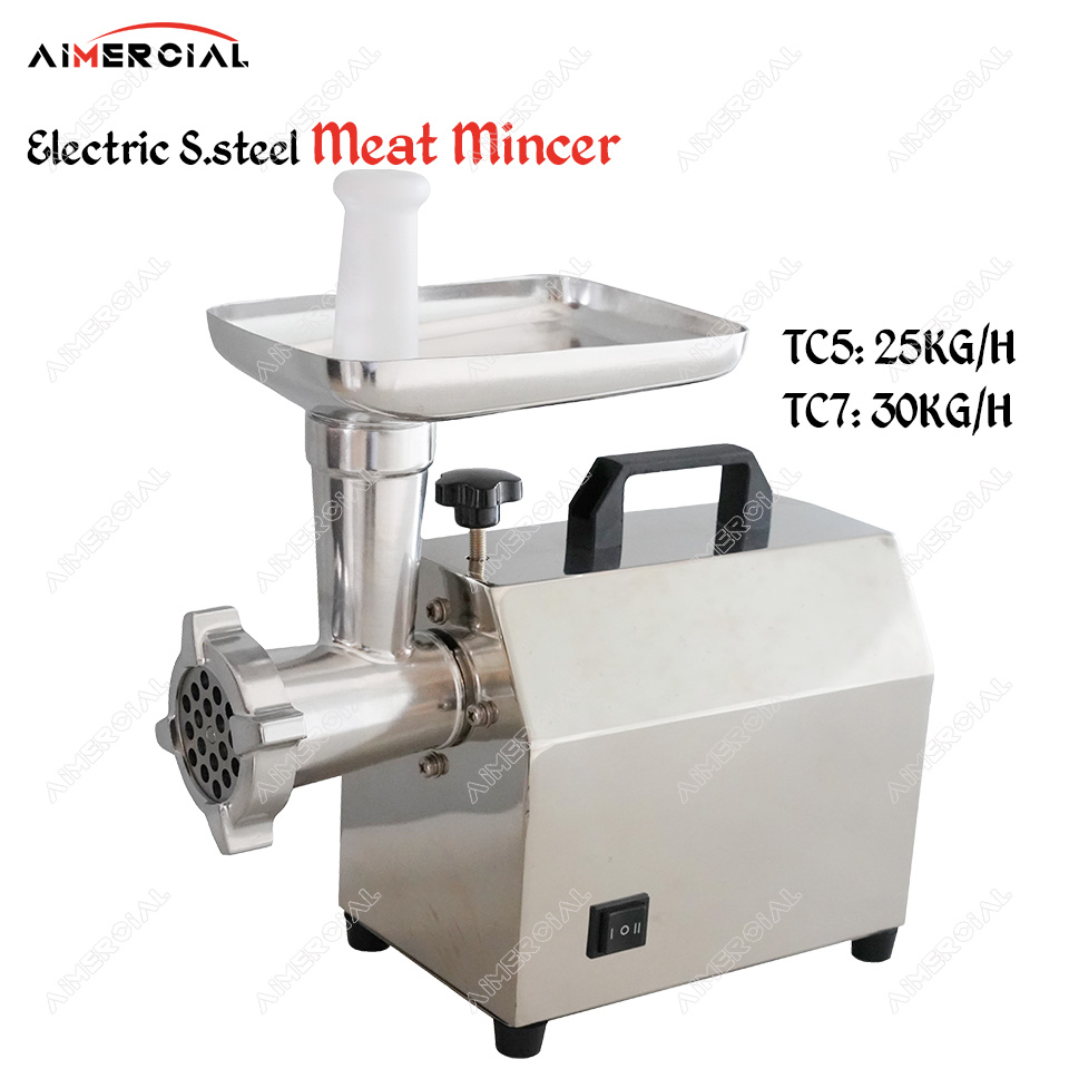 TC5/TC7 Electric Meat Mincer Machine stainless steel Grinder  Sausage With Blade Parts