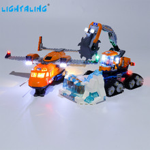 Lightaling Led Light Kit For City Series Arctic Supply Plane Toy Building Blocks Compatible With 60196 ( Lighting Set Only ) new city series toys arctic supply plane compatible lepinngly city 60196 building blocks toys for children birthday gift