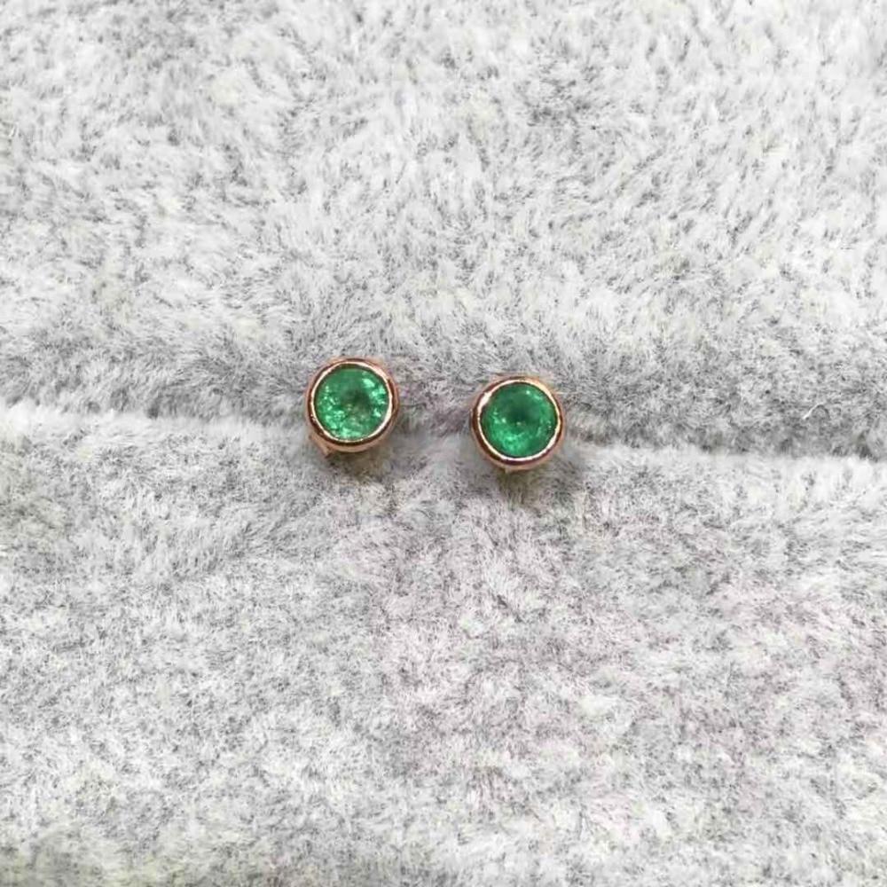 Натуральный коламбийский Изумрудный камень квадратные серьги Настоящее серебро 925 серьги Прекрасный Шарм ювелирные изделия для женщин