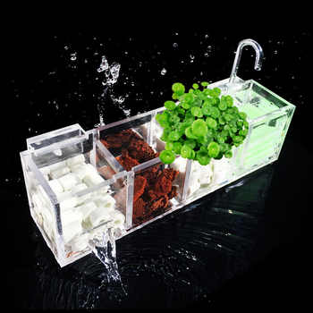 Aquarium External Filter Box Fish Tank Filter Box without Water Pump Increase Oxygen Water Filter Mutifunctional Acrylic FA016 - DISCOUNT ITEM  28% OFF All Category
