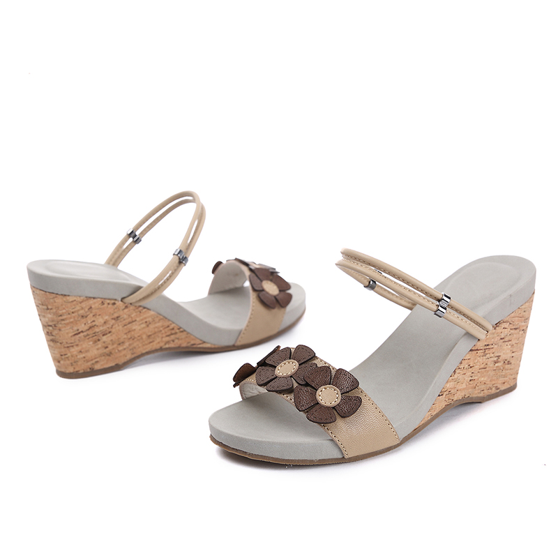 Buy Bella Dame Women's Brown and Tan Leather Fashion Sandals