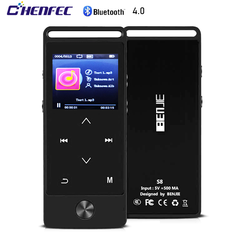 Portable Mini MP3 Player With Bluetooth Metal HiFi Lossless Music Player With FM Radio, Recorder, Expandable SD Card Up To 128GB