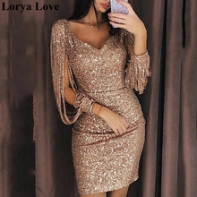 Prom-Gowns Graduation-Dress Cocktail-Dresses Homecoming Sparkle Formal Sequin Party Sexy