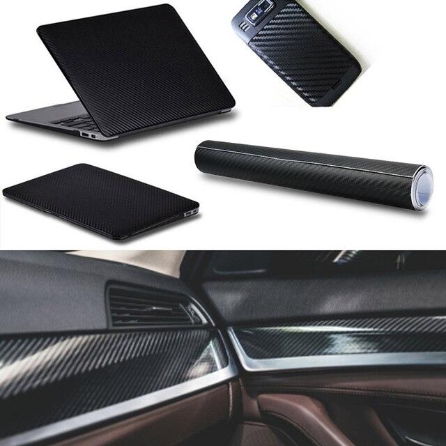 30X127cm 3D Carbon Fiber Vinyl Car Sticker for Bmw E46 E39 Audi A3 A6 C5 A4 B6 Mercedes W203 W211 Mini Cooper