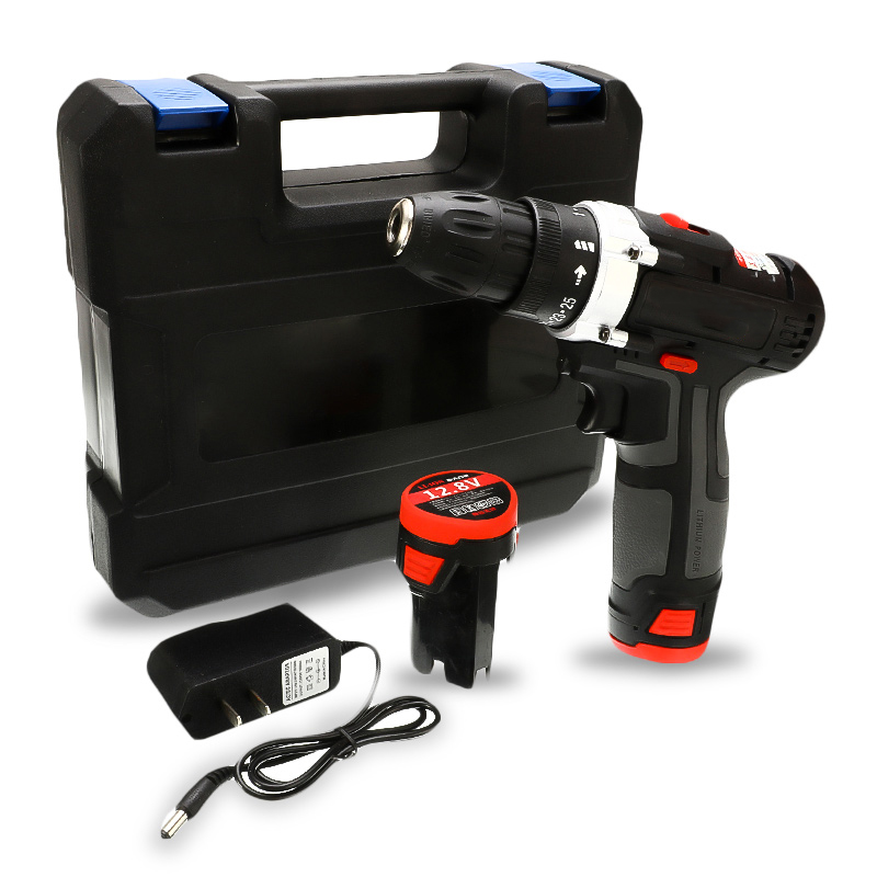 12.8V 18V 36V Home Cordless Drill 35NM Electric Screwdriver Lithium Rechargeable Wrench Power Tool Household Toolbox