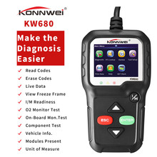 лучшая цена KONNWEI Car LED ODB2 KW680 Diagnostic Tool OBDII OBD 2 ODB Auto Scanner Engine Check Support Eight Languages KW680 OBD