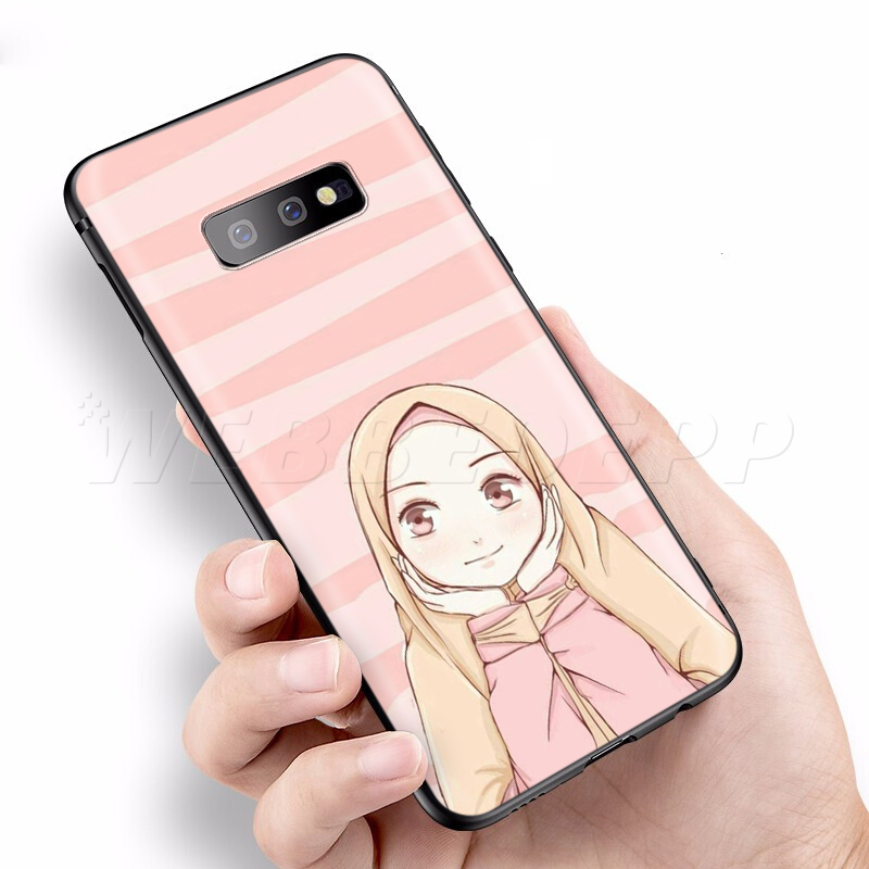 Image 5 - Webbedepp Cute Muslim Islamic Girl Case for Samsung Galaxy S7 S8  S9 S10 Plus Edge Note 10 8 9 A10 A20 A30 A40 A50 A60 A70Fitted Cases