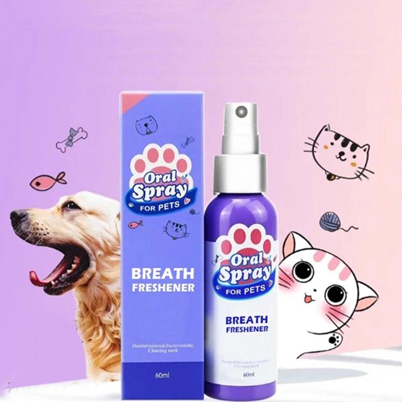Освежитель дыхания для домашних животных, спрей, очиститель зубов собак, свежее дыхание, полоскание рта, нетоксичный, здоровый уход за зубами, Прямая поставка