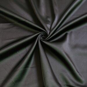Image 2 - Großhandel 2 meter voll langweilig elastische satin stoff imitation seide material für ein stück kleid schwere schwarz satin spandex stoff