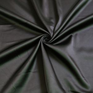 Image 2 - Materiale di seta dimitazione del tessuto di raso elastico opaco pieno allingrosso di 2 metri per il tessuto di spandex del raso nero pesante del vestito di un pezzo