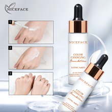 Makeup Liquid Foundation Discoloration Texture Soft Temperature Changing Concealer Cream Cover Pores Face Make up Base Cosmetics(China)
