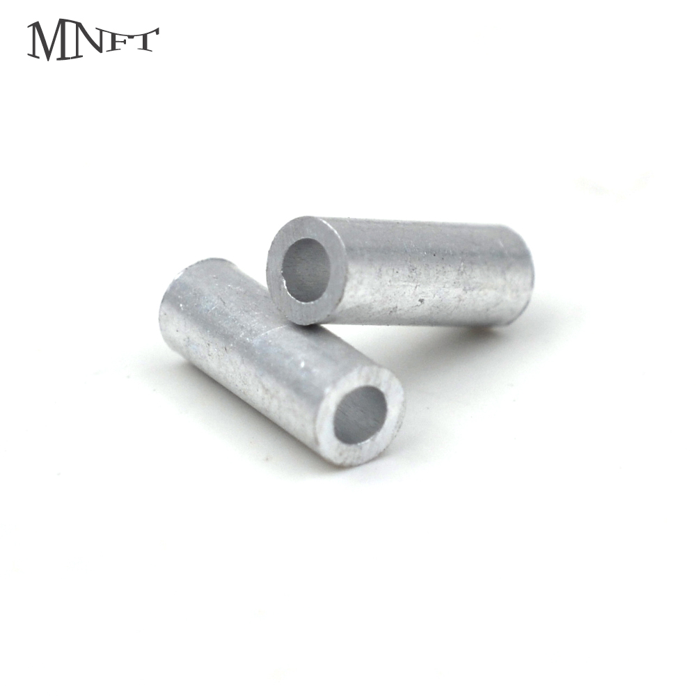 MNFT 120pcs 6 Size Mixed Fishing Line Crimp Sleeve  1.0mm-2.0mm Sea Fishing Accessories Line Tube Leader Crimps Crimping Loop Sl