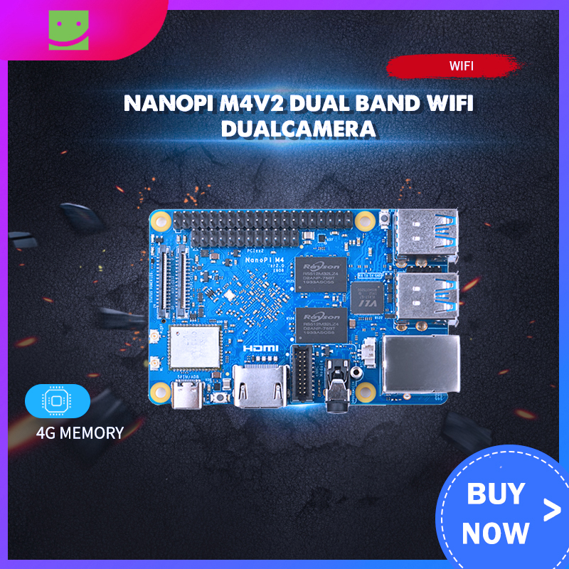 FriendlyARM NanoPi M4 V2 4GB DDR3 Rockchip RK3399 <font><b>SoC</b></font> 2.4G & 5G dual-band WiFi+Bluetooth 4.1 supports Ubuntu Android image