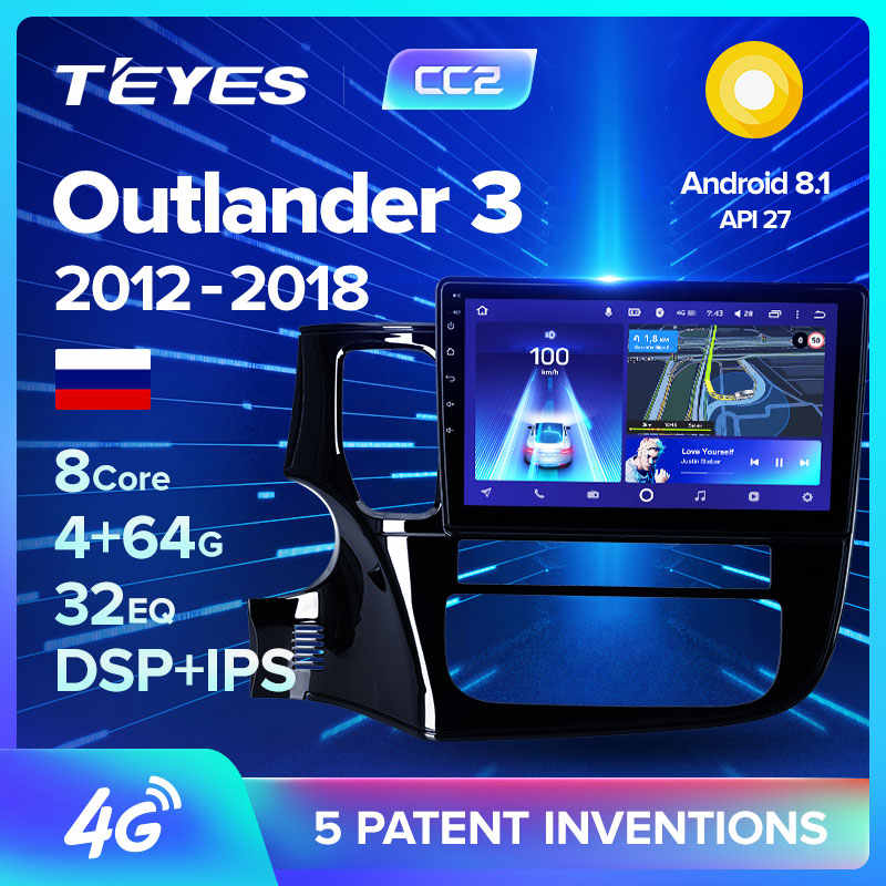TEYES CC2 Android Car DVD Gps Multimedia Player Per Mitsubishi Outlander xl 3 2012-2018 della Radio di Navigazione Video Audio lettore