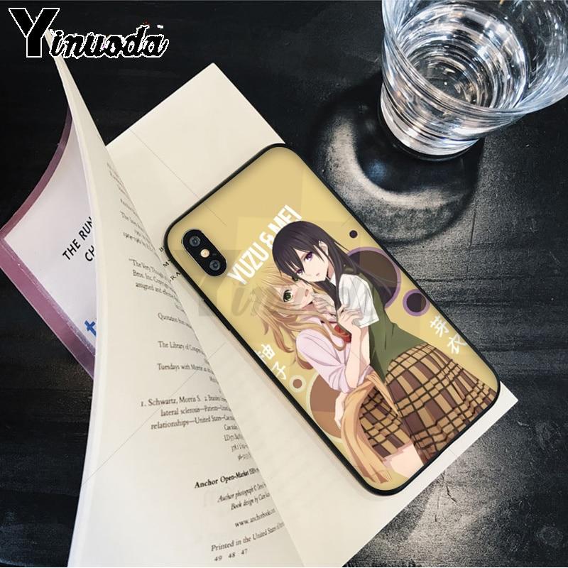 Yinuoda Anime lesbian Citrus Yuzu Aihara Mei Beautiful Phone Accessories Case for Apple iPhone 8 7 6 6S Plus X XS MAX 5 5S SE XR Pakistan