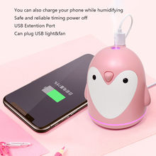 ELOOLE USB Ultraschall-luftbefeuchter Pinguin Aromatherapie Diffusor Air Mist Maker Aroma Befeuchtung Für Home Auto Büro