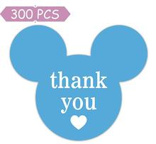 2.25 x 2 Mickey Mouse Stickers,  Mickey/Minnie Thank You Parties, Envelope Seals, Gift Tags, 300 Labels/Pack