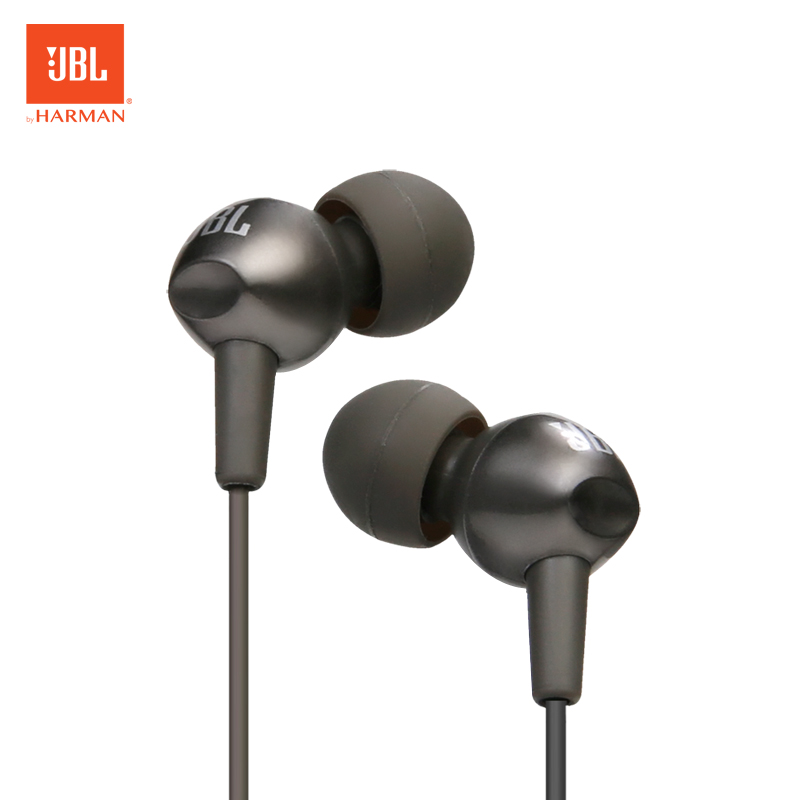 JBL C200si 3.5mm Wired Earphones Sports Music Headset Gym Gaming Earbuds Deep Bass Line Control With Mic For IPhone Android