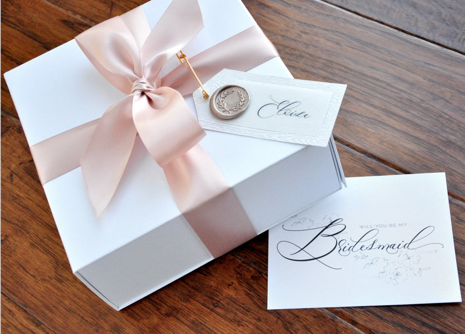 Will You Be My Bridesmaid Satin Ribbon Box ,Personalized Name Brithday Proposal Gift Box,flower Girl,Maid Of Honor Proposal Box