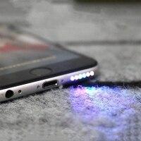1PCs Bunte Lautsprecher LED Licht Glow Nacht Coole Flash Licht Sensor Kabel für IPhone 6 6s 6S PLUS Led Licht Handy Teile-in Handy-Flex-Kabel aus Handys & Telekommunikation bei