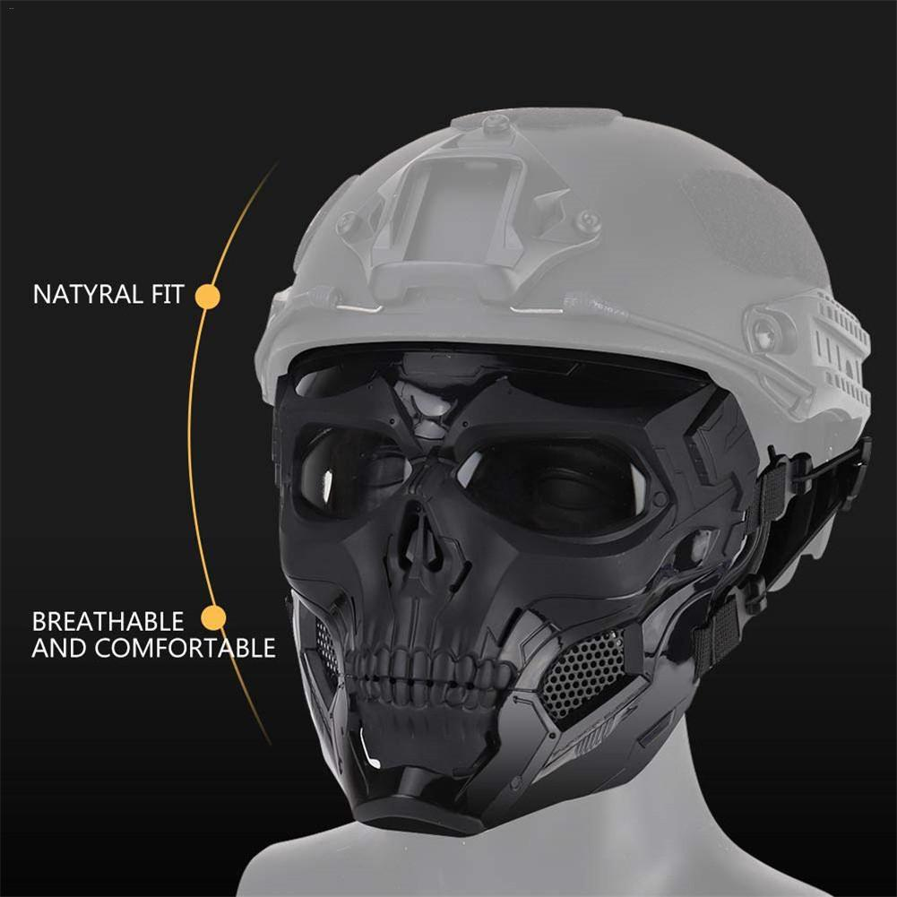 Image 3 - Hot Selling Halloween Skeleton Airsoft Mask Cool Skull Half Face Masks For Game Party Sports Hunting Festival Party DIY Cosplay-in Party Masks from Home & Garden