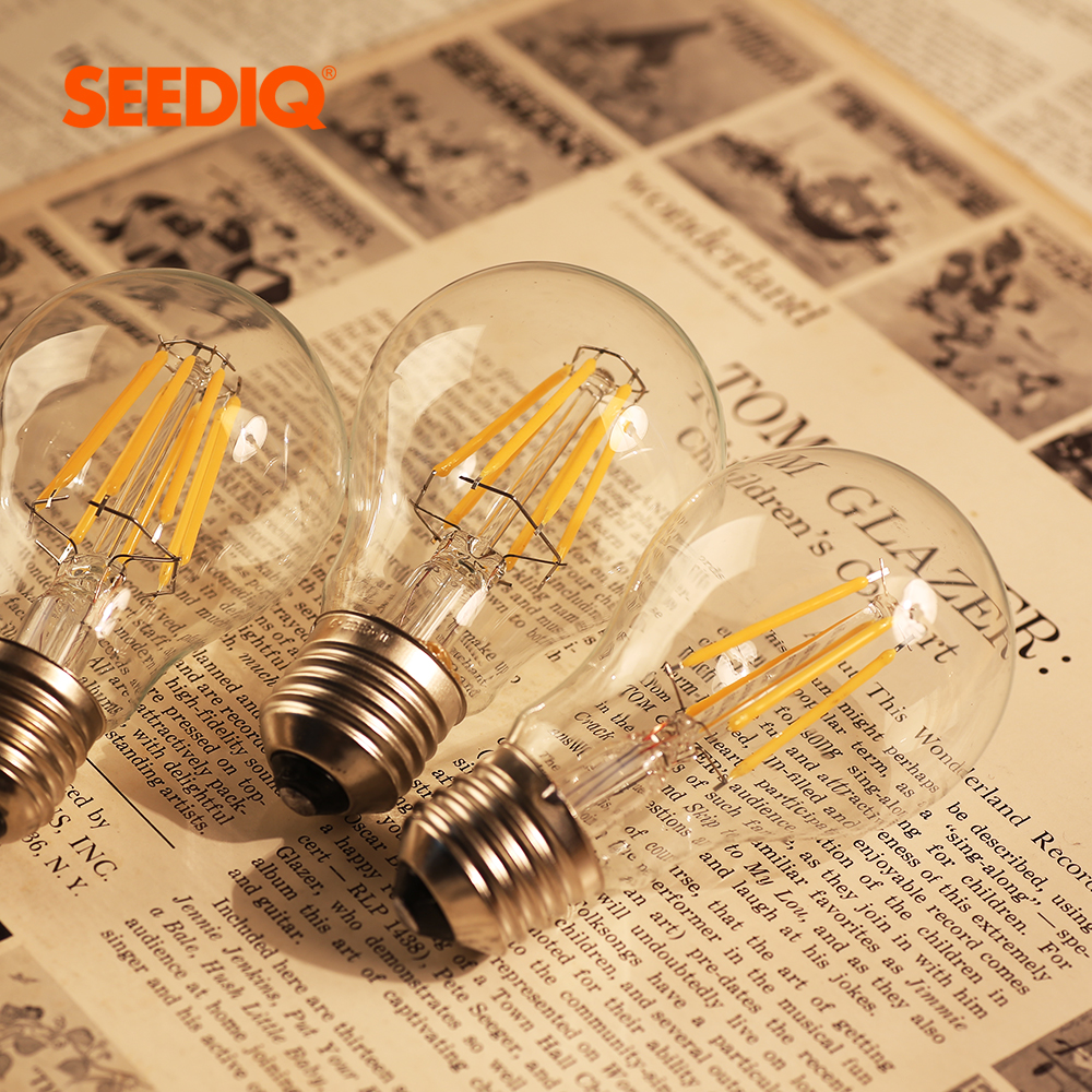 Vintage Edison Led Filament Lamp A60 2W 4W 6W 8W Retro E27 Led Bulb 220v Dimmable Light Bulbs For Home Indoor Lighting