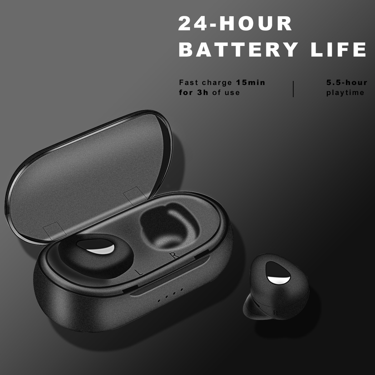 AmylingG TWS Headphones <font><b>Bluetooth</b></font> <font><b>Earphones</b></font> True Wireless Stereo Earbuds In Ear Headset Ear Buds for Sport <font><b>Bluetooth</b></font> Headphone image