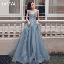 Женское вечернее платье с аппликацией lamya элегантное размера