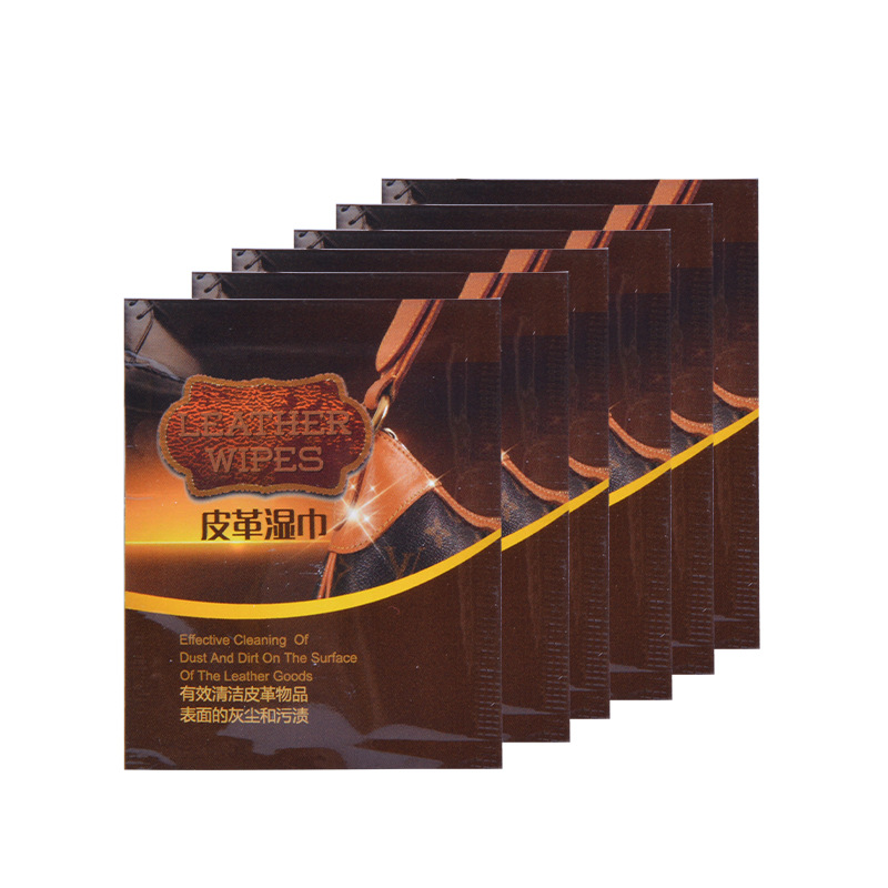 Factory Wholesale Leather Care Glazing Wet Wipe Disposable Leather Wet Wipe Made