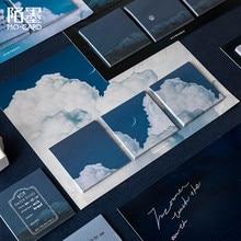 60 unidades/pacote bonito céu nuvem memorando almofada adesivos scrapbooking diy post it pegajoso notas kawaii diário bloco de notas decoração papel novo
